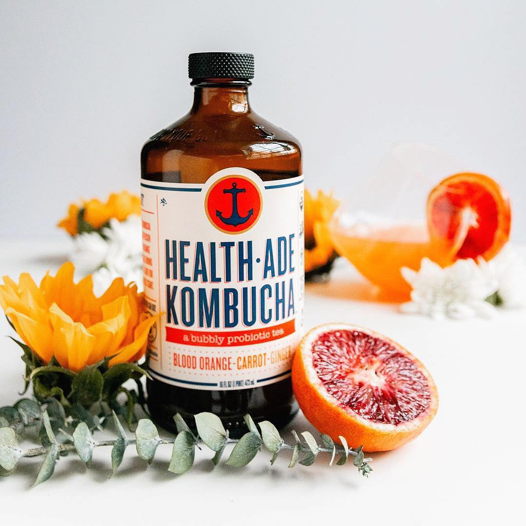 HEALTH-ADE BLOOD ORANGE-CARROT-GINGER KOMBUCHA, 16 Oz
