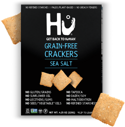 Hu Kitchen – SEA SALT GRAIN-FREE CRACKERS