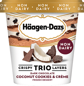 Häagen-Dazs – Coconut Cookies and Crème Non-Dairy TRIO CRISPY LAYERS