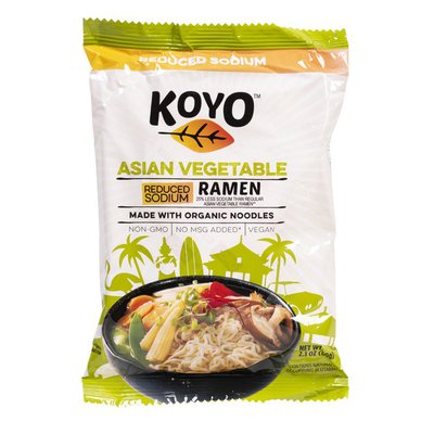 Koyo – ASIAN VEGETABLE RAMEN, REDUCED SODIUM, 2 OZ