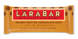 LÄRABAR – Peanut Butter Chocolate Chip, Fruit and Nut Bars, 1.6 Oz