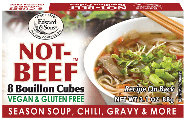 Edward & Sons Bouillon cubes — NOT BEEF
