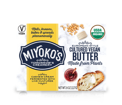 Miyoko's European Style Cultured Vegan Butter, 8oz
