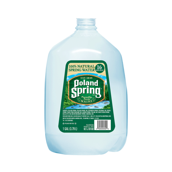Poland Spring® – 100% Natural Spring Water (Gallon)