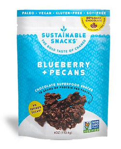 Sustainable Snacks Blueberry + Pecans