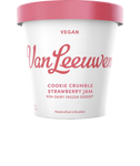 Van Leeuwen Ice Cream, Vegan, Cookie Crumble Strawberry, 14 Oz (Frozen Dessert)