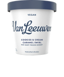 Van Leeuwen Ice Cream, Vegan, Cookies & Cream Caramel Swirl, 14 Oz (Frozen Dessert)