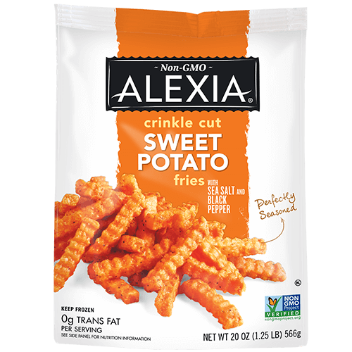 Alexia — Crinkle Cut Sweet Potato Fries w/ Sea Salt & Black Pepper