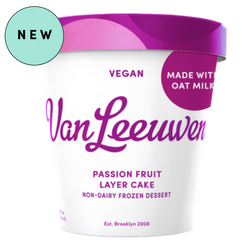 Van Leeuwen Ice Cream, vegan, Oat Milk Passion Fruit Layer Cake, 14 Oz (Frozen Desert)