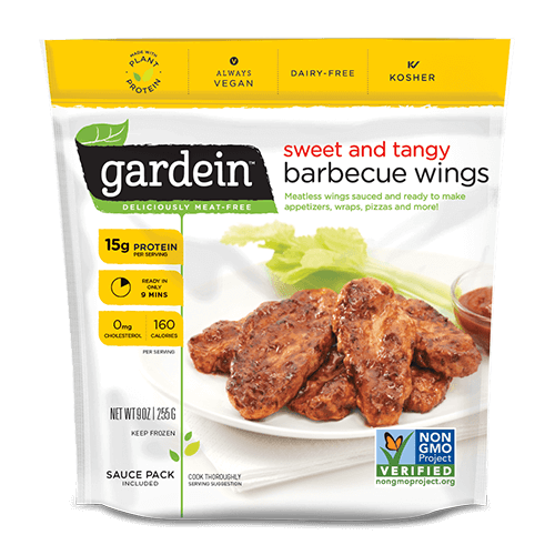 Gardein - barbecue chick'n wings