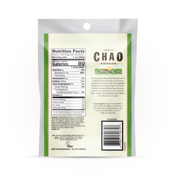 Field Roast — Chao Mexican Style Blend Shreds