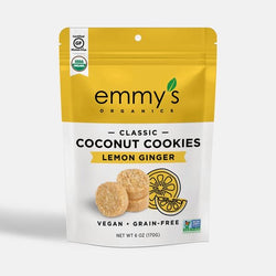 Emmy's Organics — Lemon Ginger, Organic Coconut Cookies