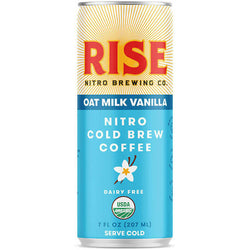 Rise Brewing Co. — Oat Milk Vanilla Latte, Nitro Cold Brew Coffee