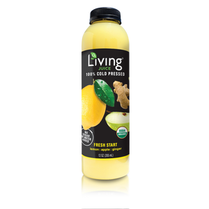 O2 Living Juice Fresh Start, 100% Cold Pressed, 12oz