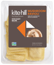 Kite Hill – Mushroom Ravioli w/ Almond Milk Ricotta Alternative