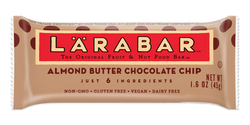 LÄRABAR – Almond Butter Chocolate Chip, Fruit and Nut Bars, 1.6 oz