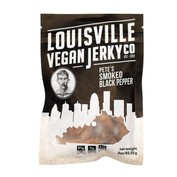 Louisville Vegan Jerky Co. - Pete's Smoked Black Pepper