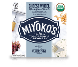 Miyoko's – Vegan Cheese Wheel, Classic Double Cream Chive, 6.5oz