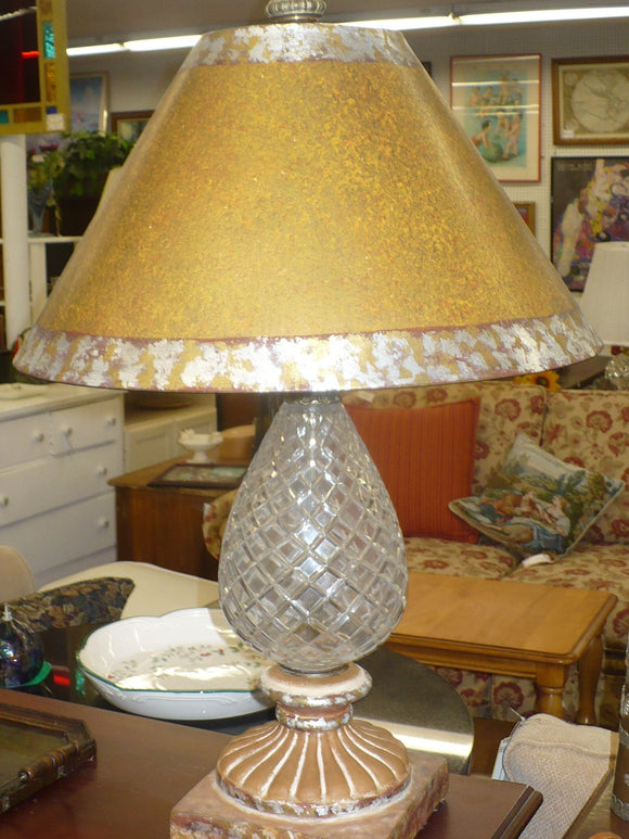 Crystal Reading Lamp with Decorative Shade