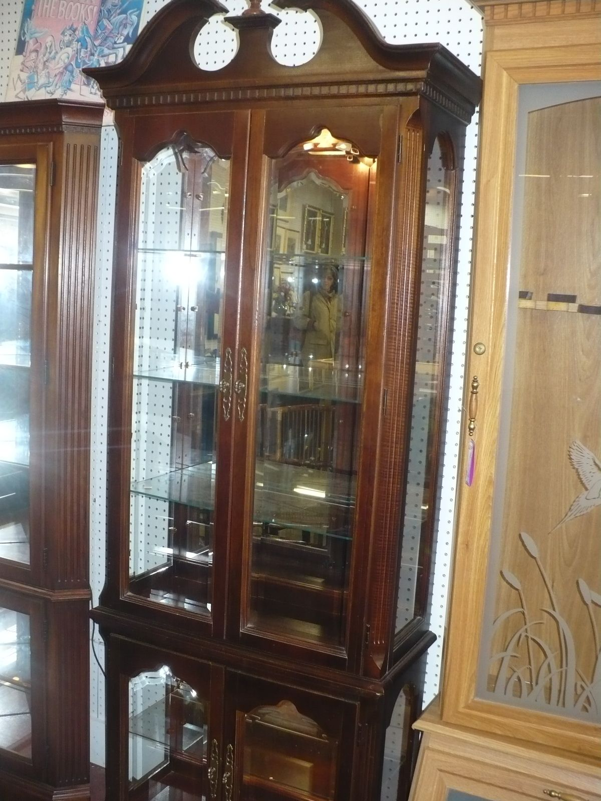 Curio Cabinet Lighted Cherished Possessions