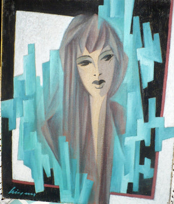 "Original Painting ""Girl in the Window"""