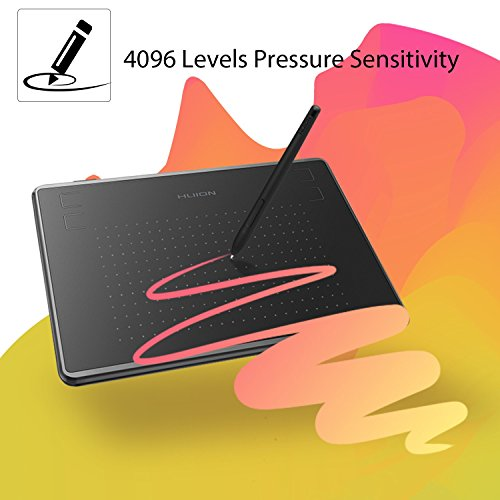 Huion Inspiroy H430P OSU Graphic Drawing Tablet with Battery-Free Stylus 4096 Levels and 4 Press Keys
