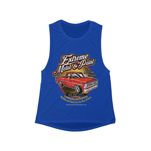 1970 Ford F100 Pickup Truck - Women's Flowy Scoop Muscle Tank