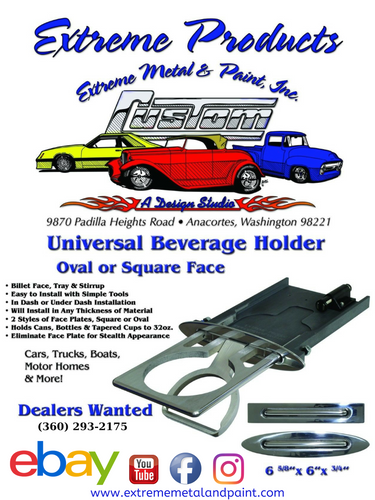 Cupholder for Classic Cars, Hot Rods, and Small Airplanes