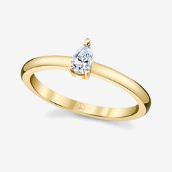 Stackable Pear Cut Diamond Ring