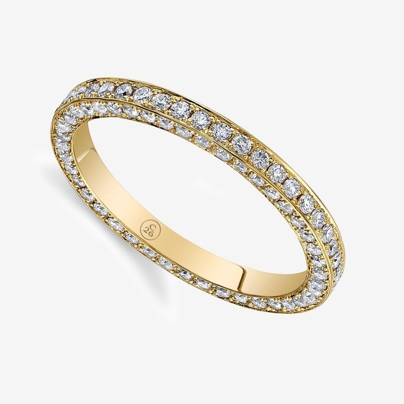 Em Flat Edge Diamond Band
