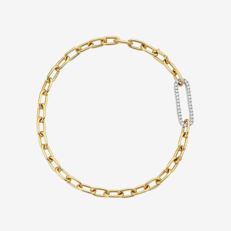 Amanda Link Bracelet with Pave Diamond Link