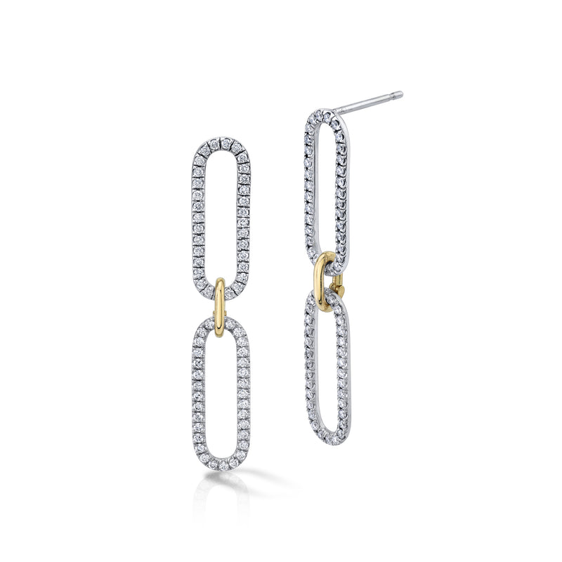 Double Amanda Diamond Link Earrings