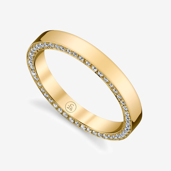 Zoe Flat Edge Band With Diamonds