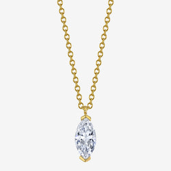 Marquise Diamond Solitaire Necklace