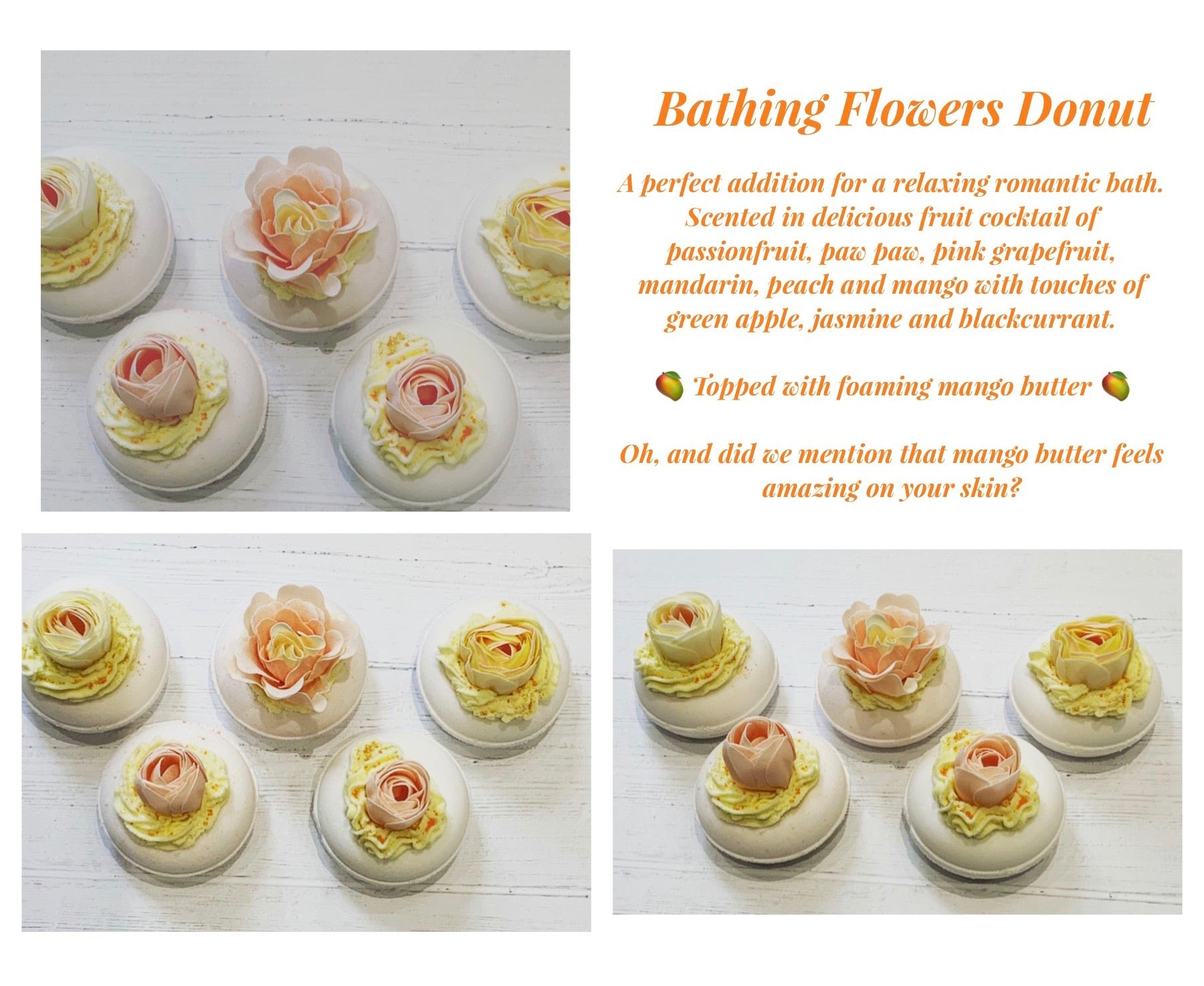 Bathing Flowers donut Bath Bomb