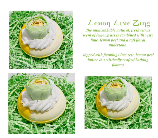 Lemon Lime Zinger Bath Bomb Donut