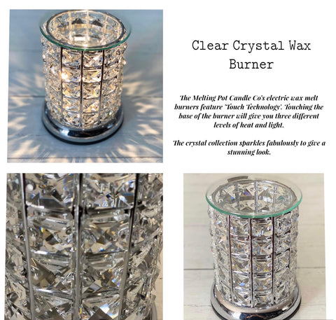 Wax Burner - Crystal - Clear Touch Lamp Wax Warmer