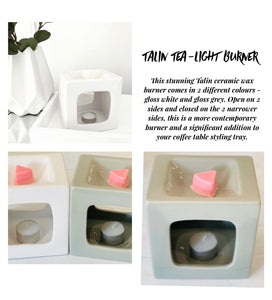 Talin tea light burner