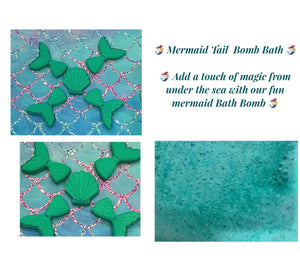 Mermaid Tail Bath Bomb - Children's Bath Fizzy