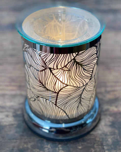 𝐒𝐡𝐢𝐦𝐦𝐞𝐫𝐢𝐧𝐠  𝐒𝐢𝐥𝐡𝐨𝐮𝐞𝐭𝐭𝐞 𝐋𝐞𝐚𝐯𝐞𝐬   - Electric wax Burner touch lamp