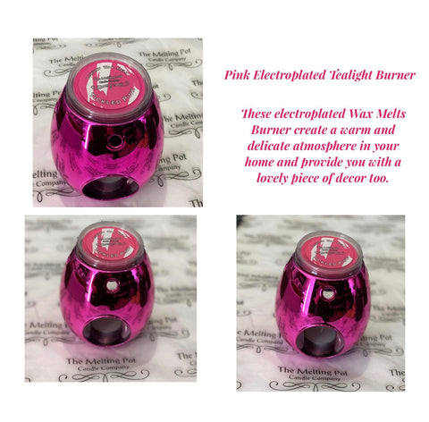 Pink Electroplated Tea-Light Wax Melt Burner