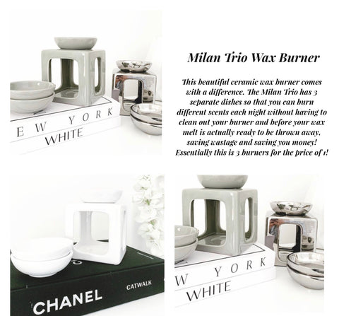 Milan Trio Wax Burner