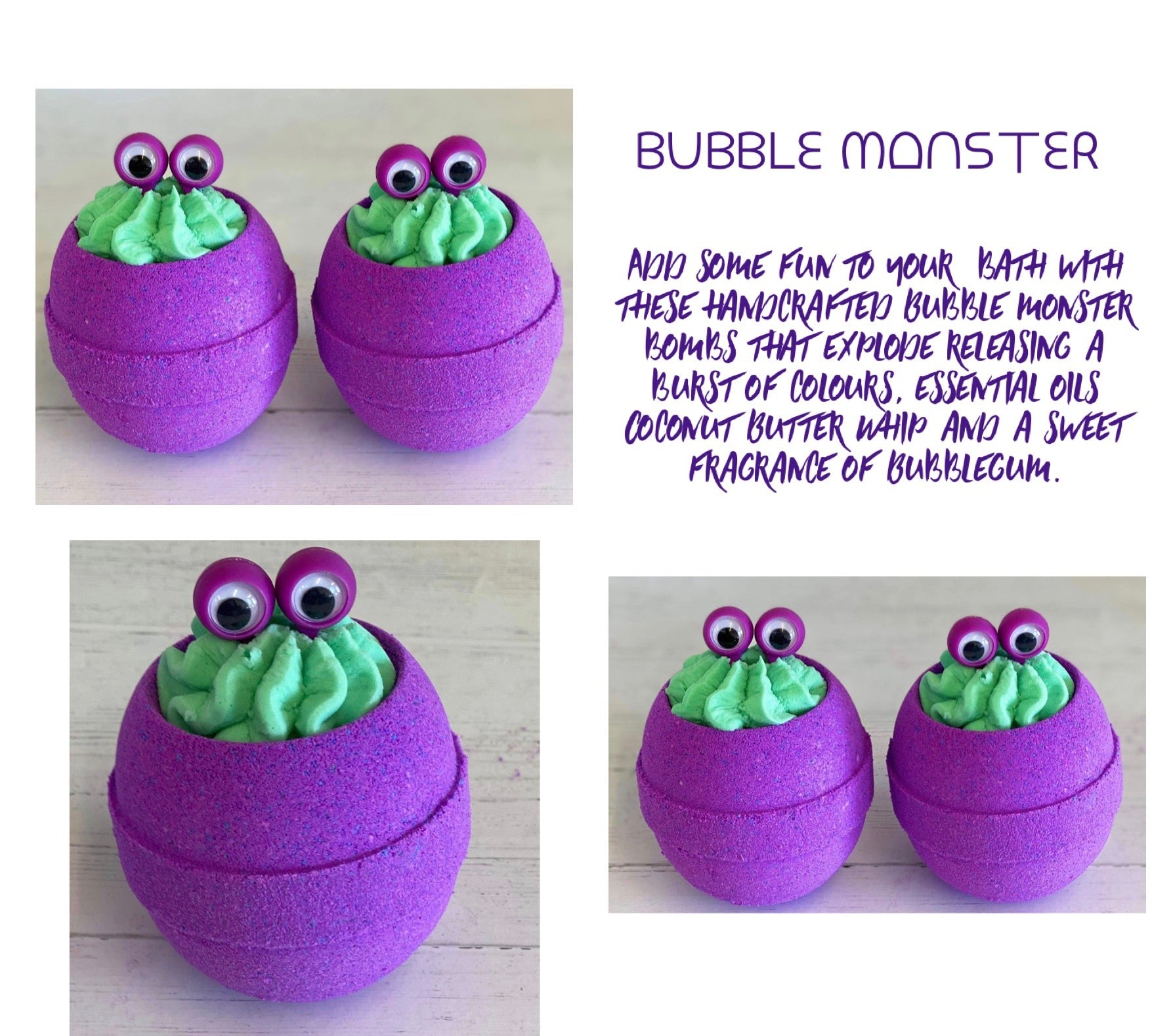 Bubble Monster Bath Bomb