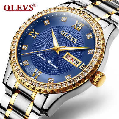 OLEVS Luxury Diamond Watch Men