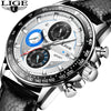 LIGE Mens Watches Top Brand Luxury