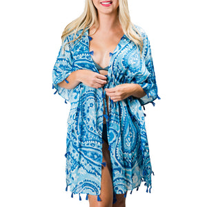 Sabine Cover-Up: Blue Paisley