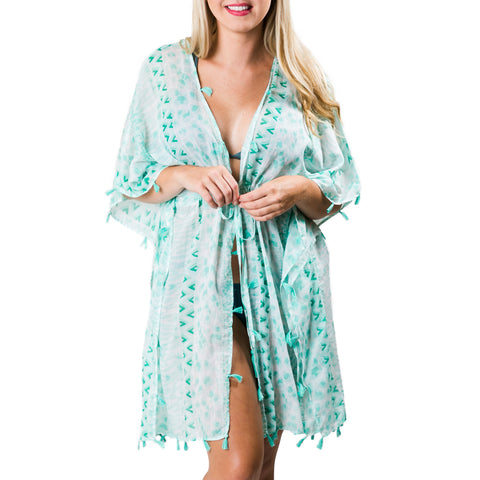 Sabine Cover-Up: Mint Green Safari