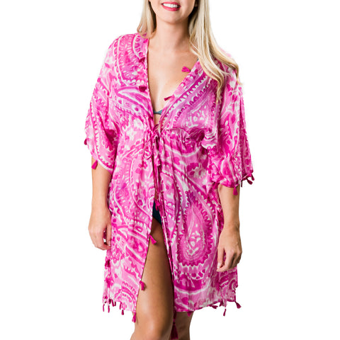 Sabine Cover-Up: Pink Paisley