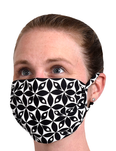 FACE MASK - BLACK PETAL