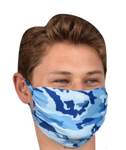 FACE MASK - BLUE CAMO
